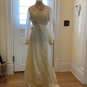 Vintage handmade wedding dress